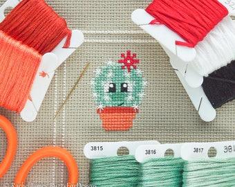 Astrid the Cactus Cross Stitch Pattern PDF