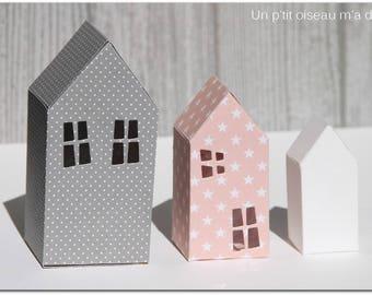Trio of lavender sachets in paper (decorative)