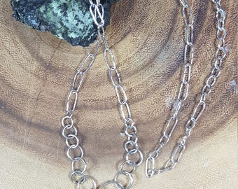 Handforged Sterling Silver Chain - Choose your length