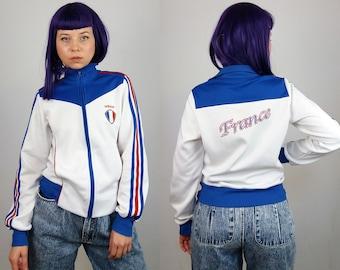 ADIDAS Vintage 90's Retro ADIDAS France Track Jacket High Neck | Size S-M