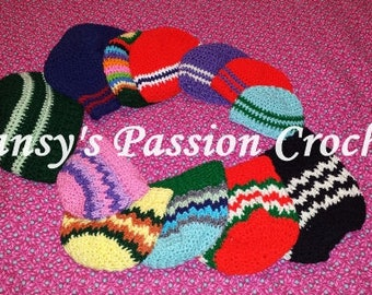 Crochet Beanie / Stocking Cap / Messy Bun / Pony Tail hats