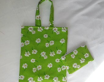 Childrens fabric tote and coin purse.
