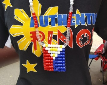 Authentic Pinoy with Philippines Flag Colors