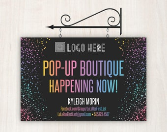 Yard Sign / Pop-Up Boutique Yard Sign / Home Office Approved / 18x12 Personalized, Digital Sign / Fashion Consultants, Retailers