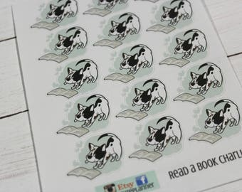 Charlie Planner Stickers - Character Stickers - Reading Stickers -  Self Care Stickers - Book Club Stickers - Work Stickers - Dog sticker