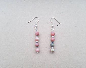 Pink & Yellow Lepidolite Earrings