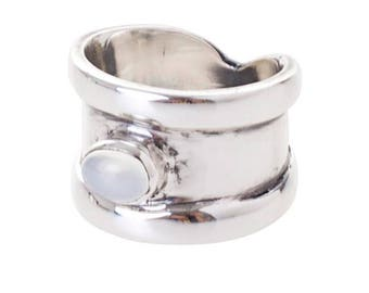 Verges Ring silver plated White (R15: 17)