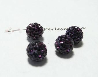 1 Pearl shambala purple quality 10mm