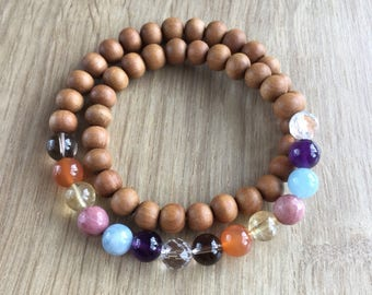 Chakra Love | Wrist Wrap Bracelet | Mala Bracelet | Chakra Bracelet | Wrist Mala