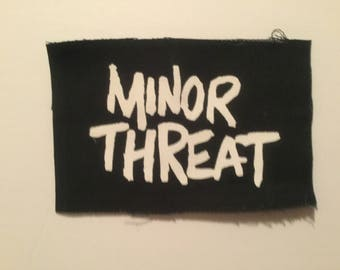 Minor Threat hand printed patch