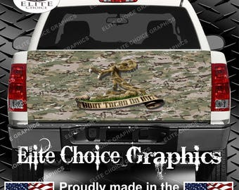 Dont Tread On me Camo Truck Tailgate Wrap Vinyl Graphic Decal Sticker Wrap