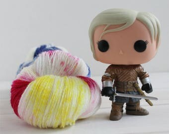 Brienne of Tarth - Game of Thrones themed hand dyed yarn - lace weight - 100g -merino wool -