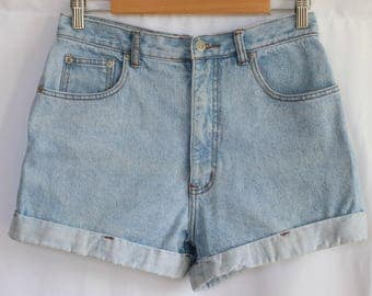 90s Light Denim Shorts