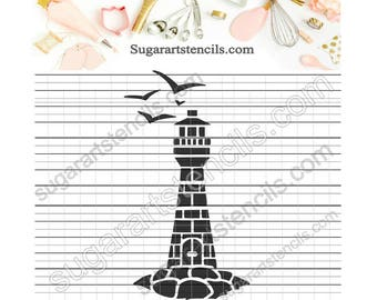 Lighthouse cookie stencil Nb900303