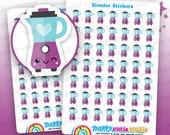 49 Cute Blender/Kitchen Mixer Planner Stickers, Filofax, Erin Condren, Happy Planner,  Kawaii, Cute Sticker, UK