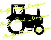 Tractor Monogram Border Cutting File, Download, SVG, PNG, Studio, Studio3, Silhouette Cameo, Cricut, Instant Download.