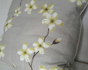 "16"" Handmade Cushion Cover & Cushion - Voyage 'Blossom' design - lovely house warming gift"