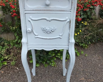 Louis XV Antique Hand Painted  French Bedside Cupboard