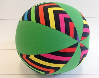 Balloon Ball Baby, Balloon Cover, Balloon Ball, Ball, Kids, Chevrons, Green , Portable Ball, Travel Toy, Travel, Eumundi Kids, Eumundi