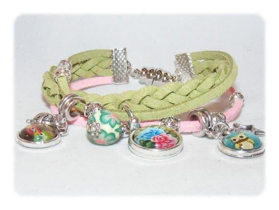 Cuff style bracelet * ஆந்தைகள் owls * Unique