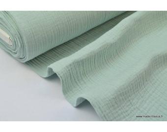 Double Mint green cotton gauze x50cm