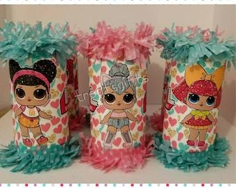 LOL surprise dolls birthday - LOL dolls mini  pinata- LOL surprise- lol dolls Party favor- lol dolls goodie bag- lol dolls birthday party