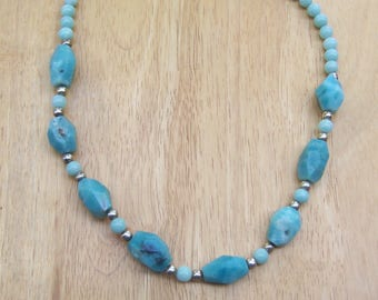 Amazonite and Silver Necklace