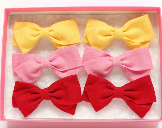 Pigtail Bow Sets - Pigtail Bows - Toddler Hair Clip and barrettes