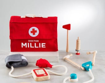 Personalised Wooden Doctors Set Toy