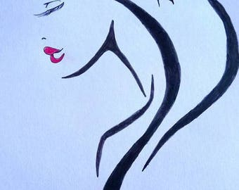 woman abstract designs