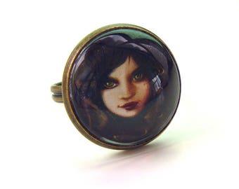 ring Gothic girl illustration