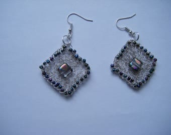 Crocheted Wire Earrings