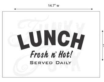 Funky Junk Stencil - Lunch - Furniture or Wall Stencil