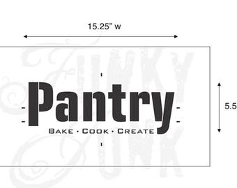 Funky Junk Stencil - Pantry - Furniture or Wall Stencil