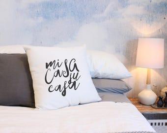 Mi Casa Su Casa Throw Pillow