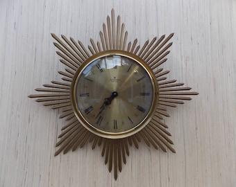 Vintage Junghans Sunburst Wall Clock
