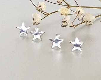 Star Ear Studs, Silver Star Earrings, Minimalist Ear Studs, Silver Ear Studs, Gifts For Her, Dainty  Earrings, Ear Studs (E187)