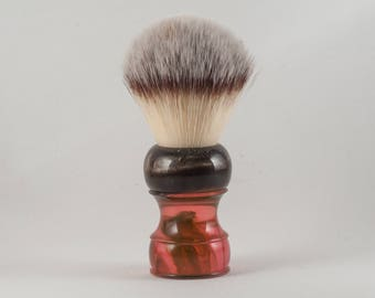 Shaving Brush - Black Anvil - Fionn. Synthetic knot.