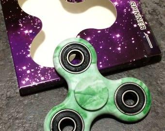 Green fidget spinner hand spinner