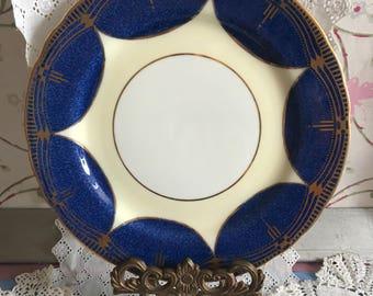 Stunning cobalt blue Aynsley salad plate