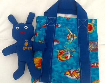 Personalized Doll and Fishy Bag