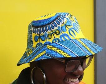 African Hat African Bucket Hat Dashiki Hat Dashiki Bucket Hat Festival Hat African Cap African Clothing Top Hat African Bucket