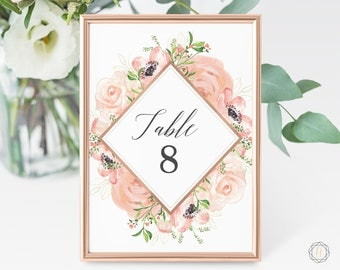 Wedding Table Numbers, Table Numbers, Gold Table Numbers, Rustic Wedding Decor, Table Number Cards, Gold Table Numbers, Boho Wedding, #PRG