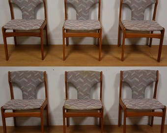Teak Dining Chairs - Set of 6