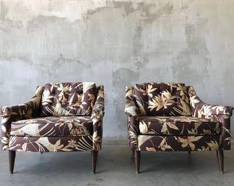 Pair tiki style chairs