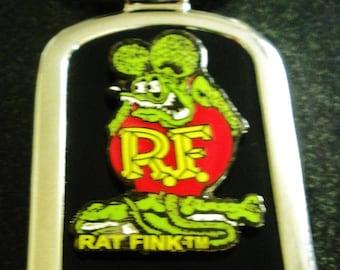 Ratfink Black Onyx & Silver Keychain-Free Engraving