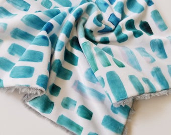Blue Watercolor Lovey, Baby Boy lovey, Minky lovey, Minky Blanket, toddler lovey, Modern Baby, Aquamarine watercolor mosaic, baby boy gift