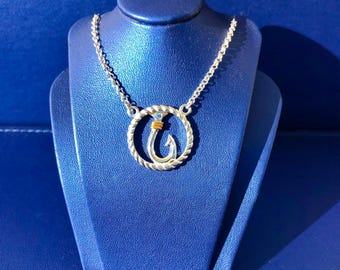 Circle Rope Hook Necklace