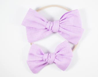 Sloane bow || Orchid