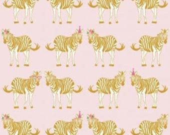 "Riley Blake Designs, Safari Main Pink, from ""Safari Party"" by Melissa Mortenson, fabric by the yard"